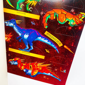 Dinosaur Warriors Fire Sticker and Activity Book