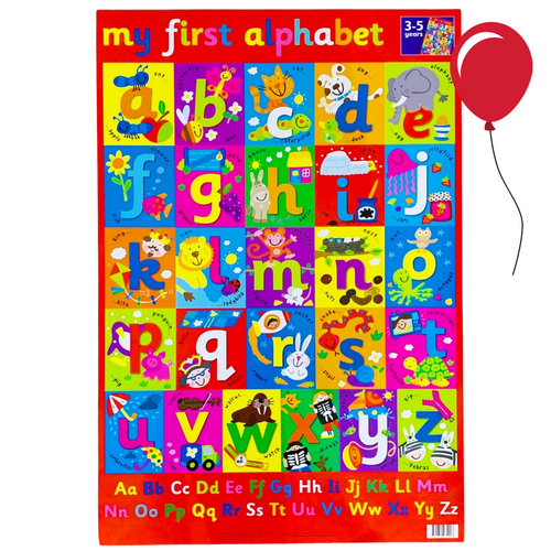 My First Alphabet | English Posters | English Charts for the Classroom | Education Wall Charts