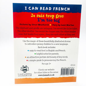 I Can Read French: Je suis trop gros
