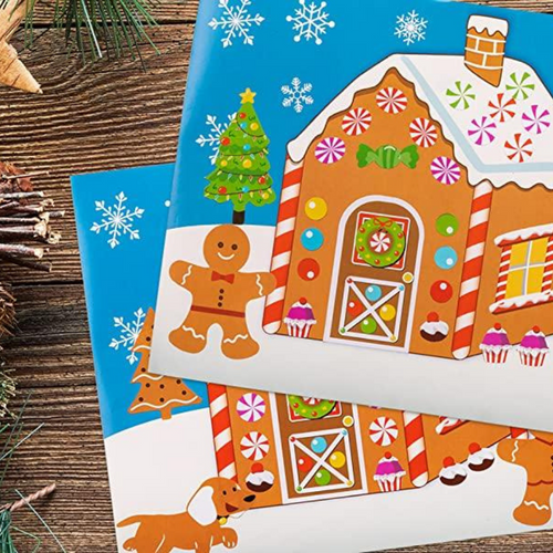 Make-A-Gingerbread House Sticker Set for Kids