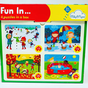 Fun In...4 Puzzles in a Box