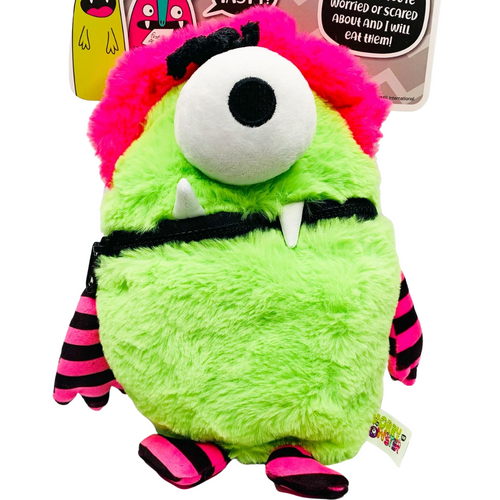 Worry Monster Plush: Pink and Green