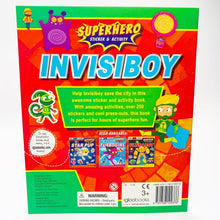 Load image into Gallery viewer, Invisiboy: Superhero Sticker and Activity Adventure
