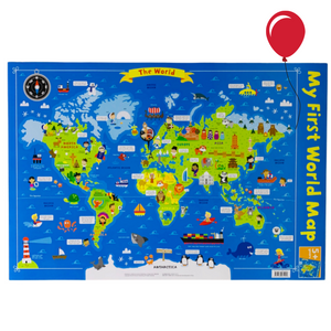 My First World Map | Charts for the Classroom | Education Wall Charts