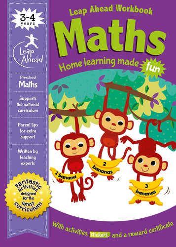 Leap Ahead Workbook: Maths Ages 3-4