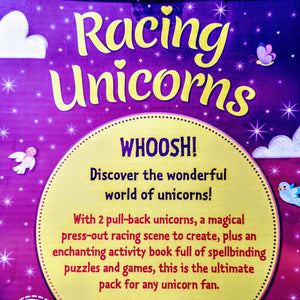 Racing Unicorns and Activity Book