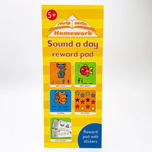 Load image into Gallery viewer, Help With Homework: Sound a Day Reward Pad (Ages 5+)
