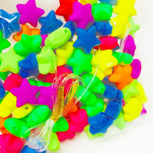 Load image into Gallery viewer, Mixed Acrylic 12mm Puffy Star Beads