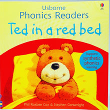 Load image into Gallery viewer, Usborne Phonics Readers: Ted in a Red Bed