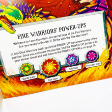 Load image into Gallery viewer, Dinosaur Warriors Fire Sticker and Activity Book
