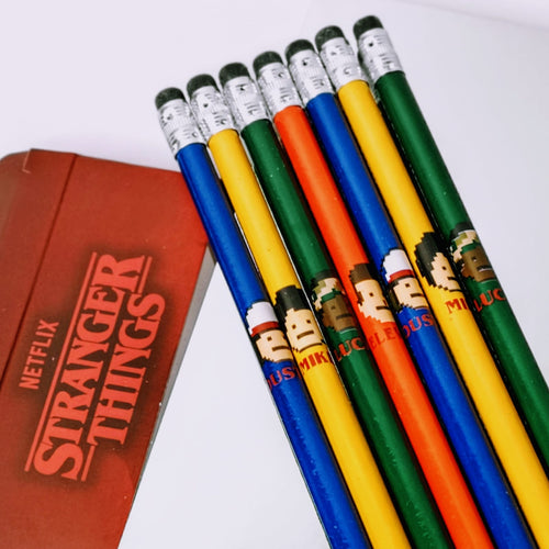 Stranger Things Character Pencil Set