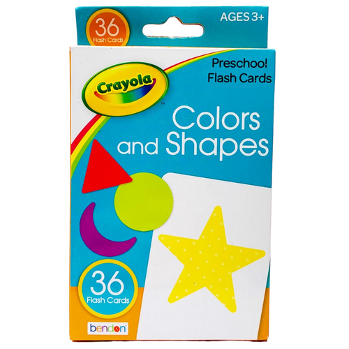 Crayola Colors and Shapes Preschool Flashcards