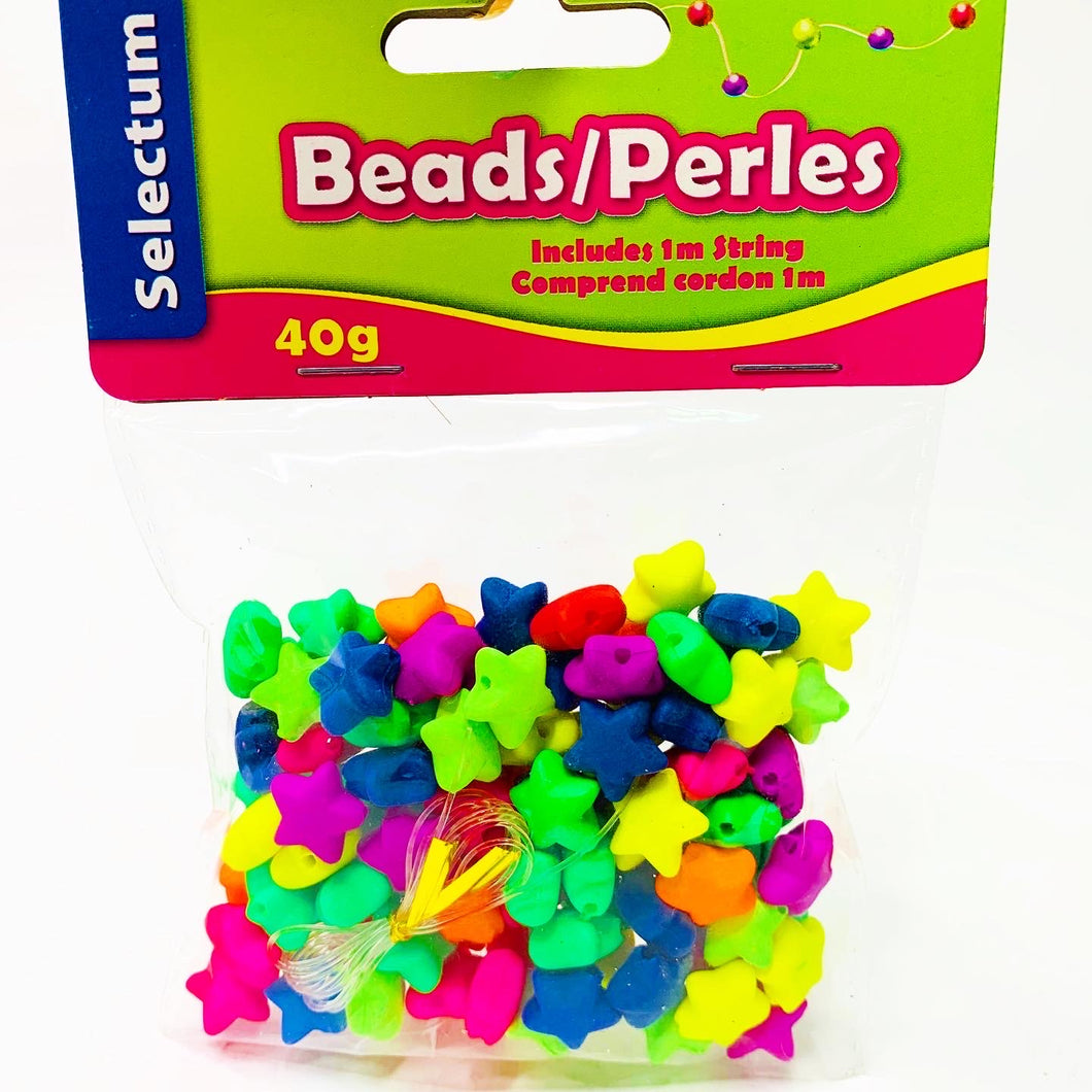 Mixed Acrylic 12mm Puffy Star Beads