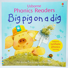 Load image into Gallery viewer, Usborne Phonics Readers: Big Pig on a Dig