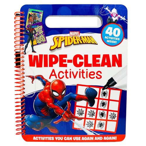 Marvel Spider-Man Wipe-Clean Activities with Pen