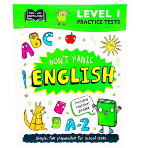 Help With Homework: Don't Panic English with Revision Poster Level 1 (Age 7+)