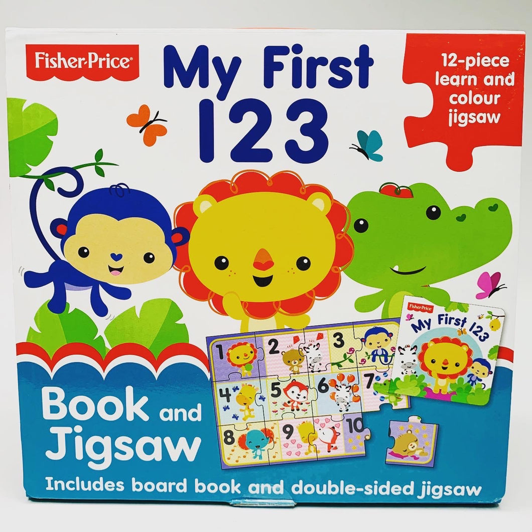 Fisher Price My First 123 Book and Jigsaw
