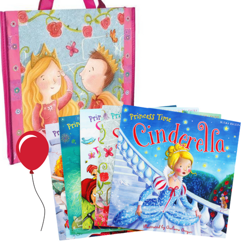 Princess Time Collection (5 Books with Tote Bag)