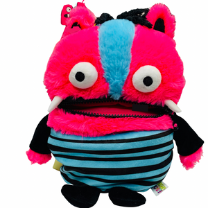 Worry Monster Plush: Blue and Pink