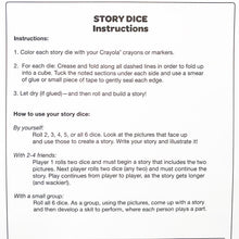 Load image into Gallery viewer, Crayola Creative Classroom Story Dice (makes 6)