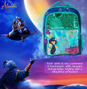 Disney's Aladdin Jasmine Sequin Backpack: Follow Your Heart