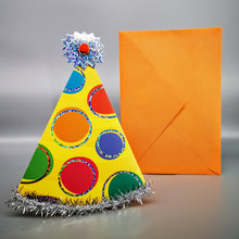 Load image into Gallery viewer, Hallmark: Happy Birthday Party Hat Deluxe Card