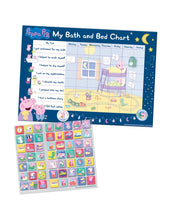 Load image into Gallery viewer, Peppa Pig Bath and Bedtime Reusable Reward Chart Set