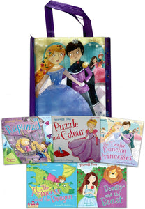 Princess Adventures Book Collection with Tote Bag