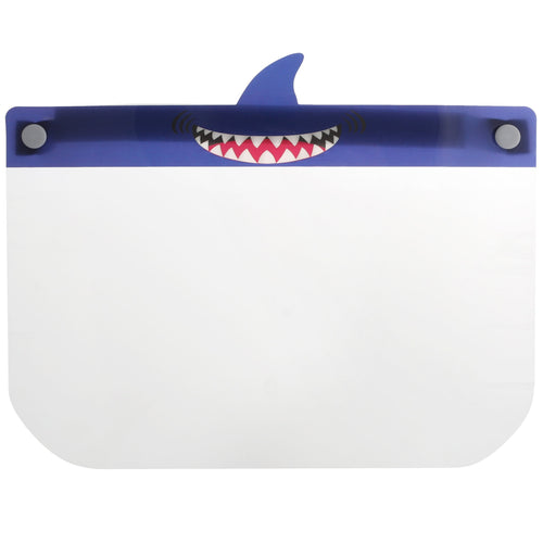 Kid's Clear Protective Face Shield: Shark