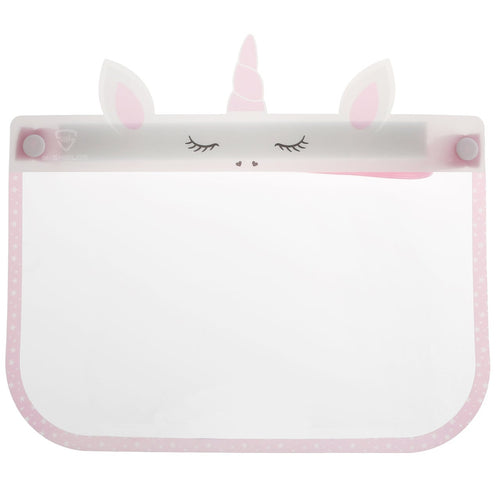Kid's Clear Protective Face Shield: Unicorn