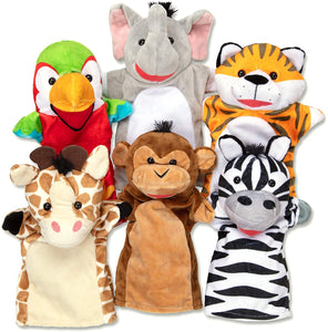 Melissa and Doug: Safari Buddies Hand Puppets