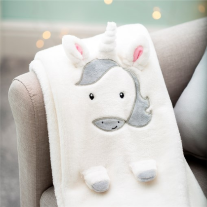 Sass & Belle - Unicorn Soft Fleece Baby Blanket