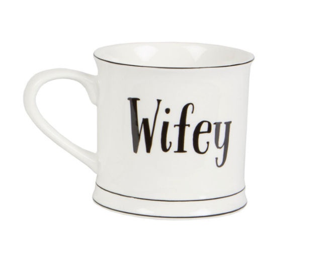 Sass & Belle - Hubby and Wifey Mugs