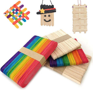 Wood Craft Popsicle Sticks (50 count packs)
