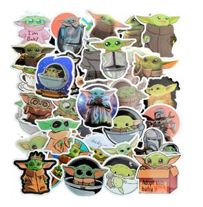 Mandalorian and Baby Yoda Deluxe Sticker Pack