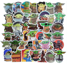 Load image into Gallery viewer, Mandalorian and Baby Yoda Deluxe Sticker Pack