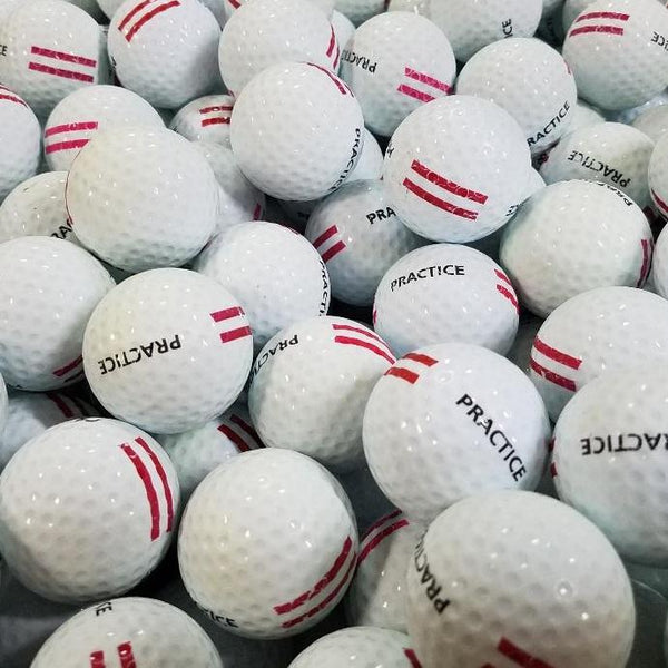 Red Stripe Limited Flight Used Golf Balls A-B  (4513414971474)