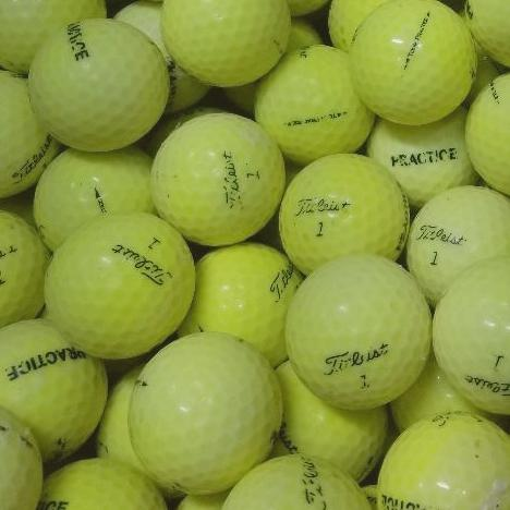 Titleist Tour Practice/NXT Yellow Used Golf Balls CD Grade  (4659612745810)