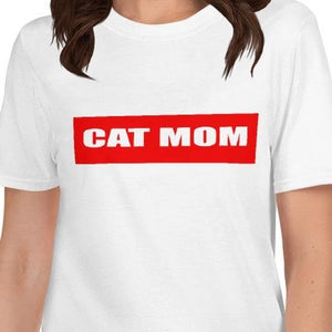 Cat Mom T-Shirt-CAT MOM-Cat and Dog T-Shirts