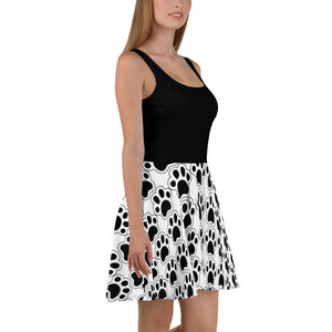 Paw Skater Dress-Cat and Dog T-Shirts-Cat and Dog T-Shirts