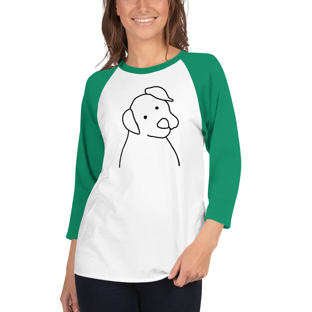 Funny Dog 3/4 sleeve raglan shirt | Men and Women Funny Dog Shirt-Funny Dog Shirt-Cat and Dog T-Shirts
