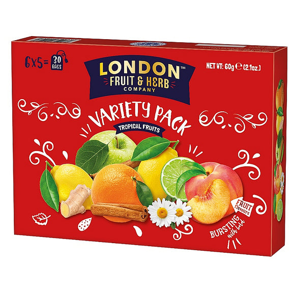 London Fruit & Herb Tropical Fruits Variety Pack Tea 30 bags