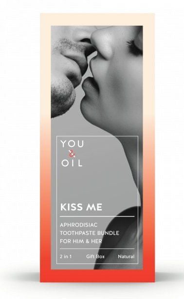 You & Oil Set of aphrodisiac toothpastes Kiss Me For Him & Her 2 x 70 g