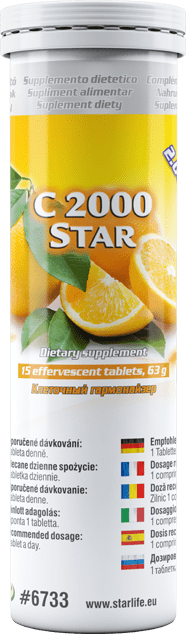 Starlife Vitamin C 2000 STAR, 15 tablets