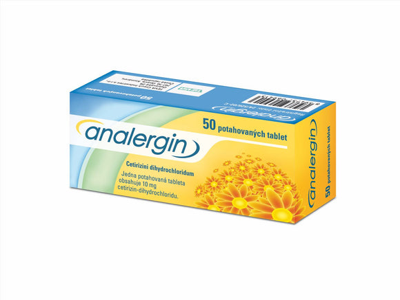Analergin 10 mg 50 tablets allergic rhinitis treatment - mydrxm.com