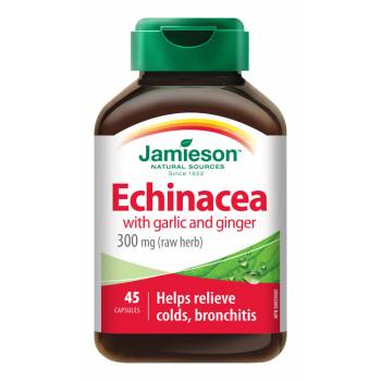 Jamieson Echinacea with garlic and ginger 45 capsules - mydrxm.com