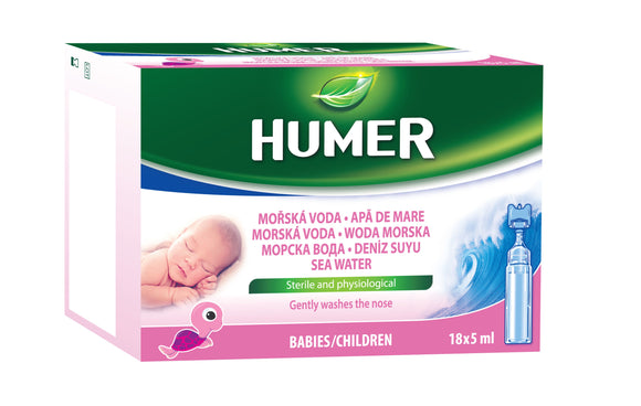 HUMER Sea water infants, ampoules 18 x 5ml - mydrxm.com