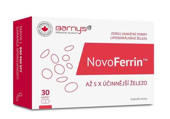 Barny's NovoFerrin 30 capsules Iron food supplement - mydrxm.com