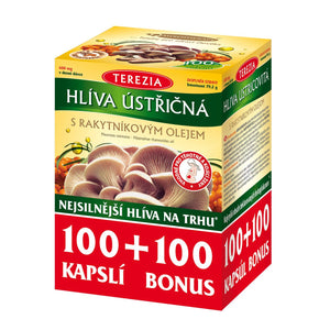 Terezia Oyster mushroom with sea buckthorn oil 100 + 100 capsules - mydrxm.com