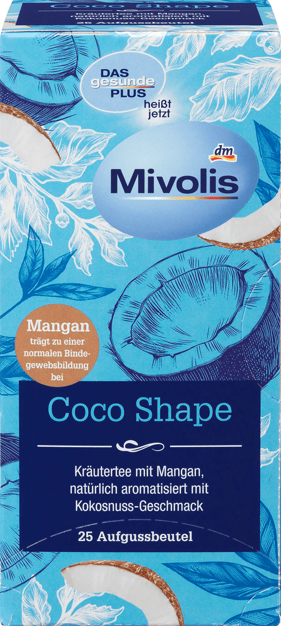 Mivolis herbal tea Coco Shape, 25 tea bags